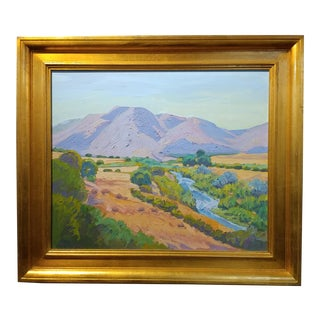 Raymond Cuevas - Beautiful Landscape near Santa Barbara -California Impressionist -Oil painting For Sale
