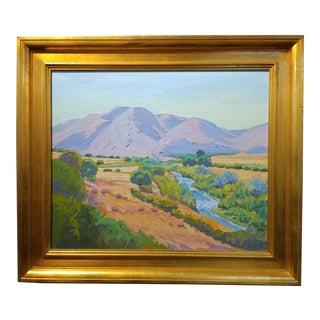 Raymond Cuevas - Beautiful Landscape near Santa Barbara -California Impressionist -Oil painting