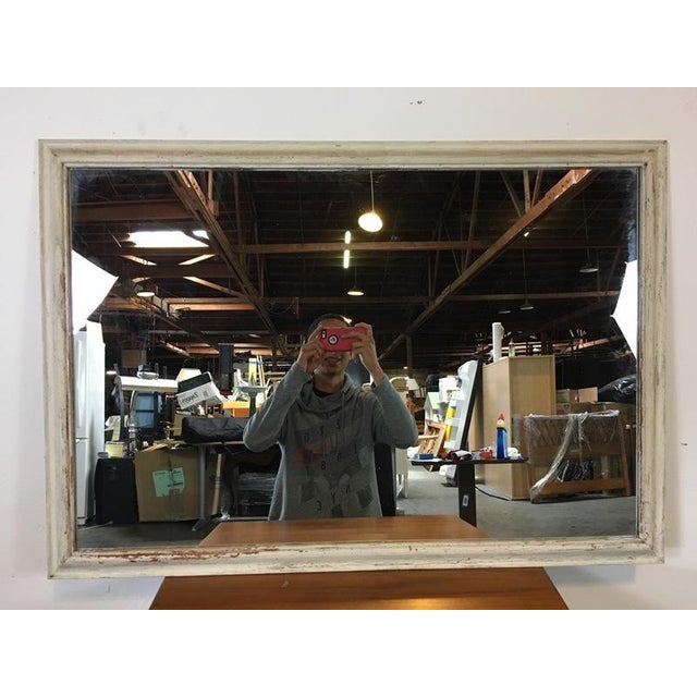 Shabby Chic White Wooden Frame Mirror - Image 2 of 4