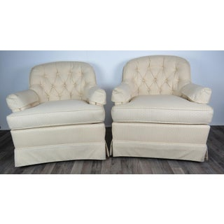 Vintage Off-White Drexel Heritage Chairs - a Pair Preview