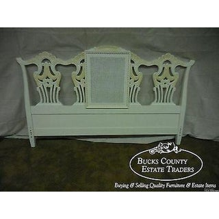 Custom Painted Chippendale Style King Size Headboard Preview