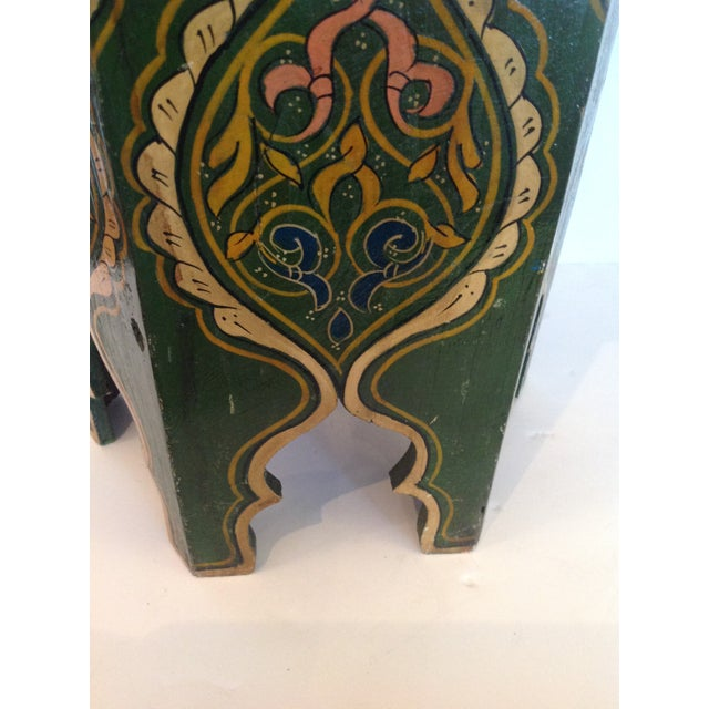 Wood Petite Moroccan Tabouret For Sale - Image 7 of 12