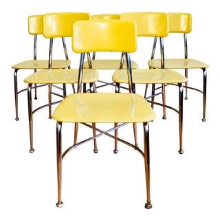 Vintage Heywood Wakefield School Chairs - Set of 6 For Sale