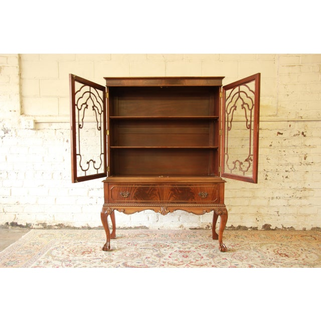 Chippendale Antique French Chippendale Mahogany Cabinet For Sale - Image 3 of 7