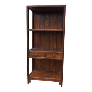 Antique Ming Dynasty Style Open Bookcase For Sale