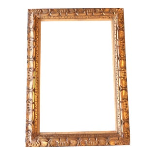 Vintage Carved Gilt Wood Frame For Sale