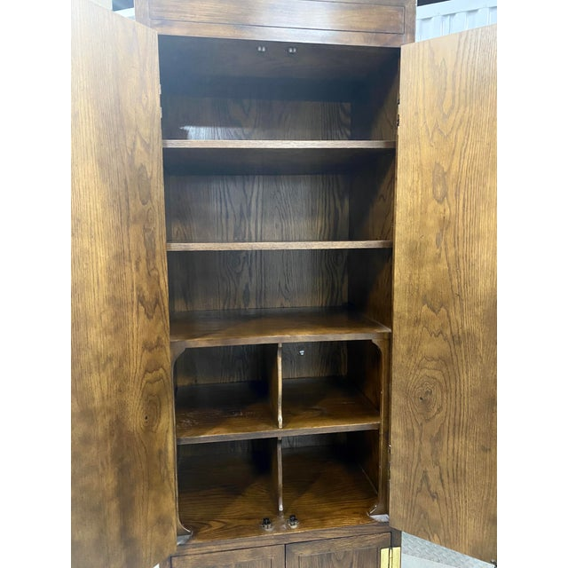 Vintage Henredon Campaign Chifforobe- a Pair For Sale In Tampa - Image 6 of 11