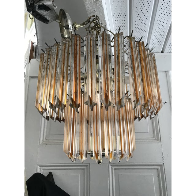 1960s Vintage Mid Century Murano Glass Chandelier Amber For Image 5 Of 11