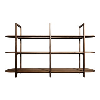 Volk Sebastian Walnut Etagere For Sale