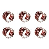 Image of ARTEL Narcissus Napkin Rings, Red, Set of 6 For Sale