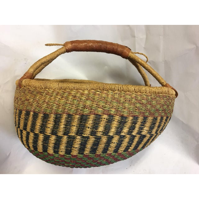 Oval Hand Woven Natural Grass Basket - Image 4 of 8