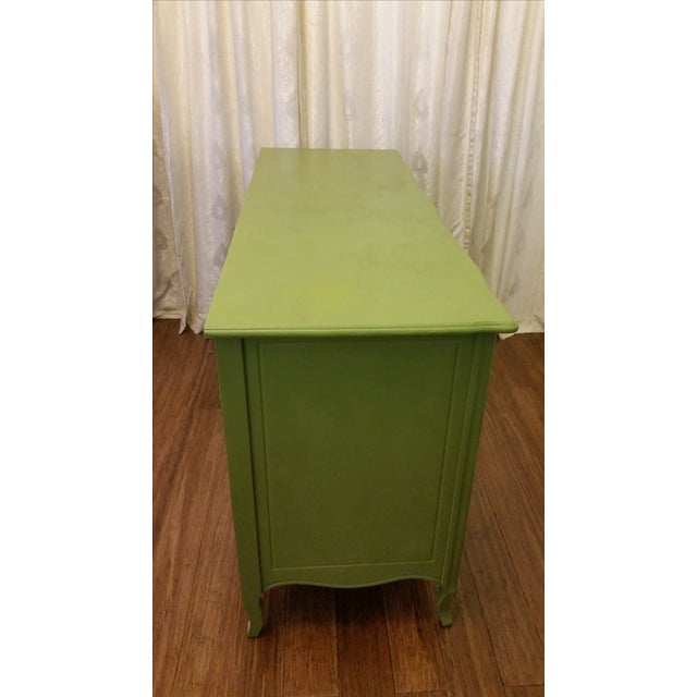Green French Provincial Dresser - Image 4 of 5