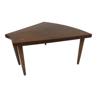 Mid Century Modern Wedge Table - Merton Gershun for American of Martinsville