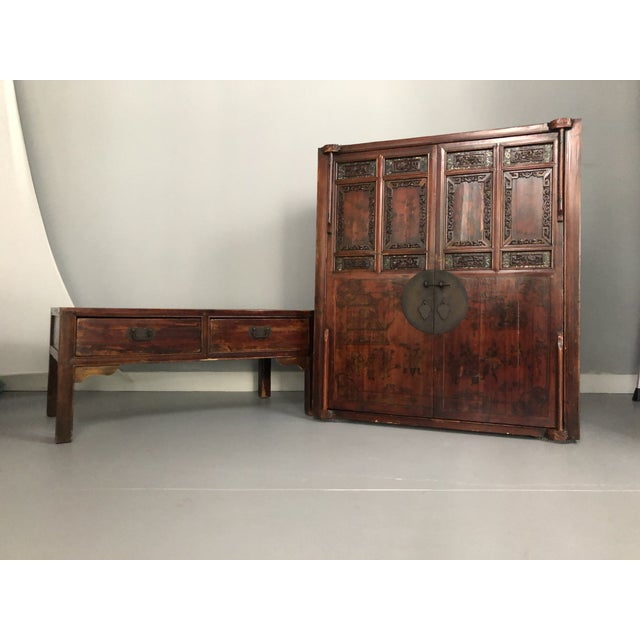 Early 19th Century Antique Asian Wedding Cabinet For Sale - Image 5 of 12