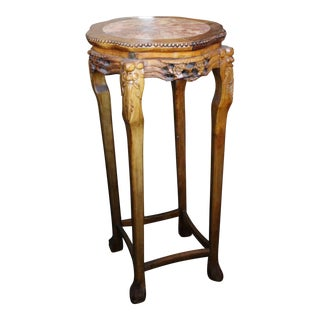 20th Century Chinese Marble Side Table For Sale