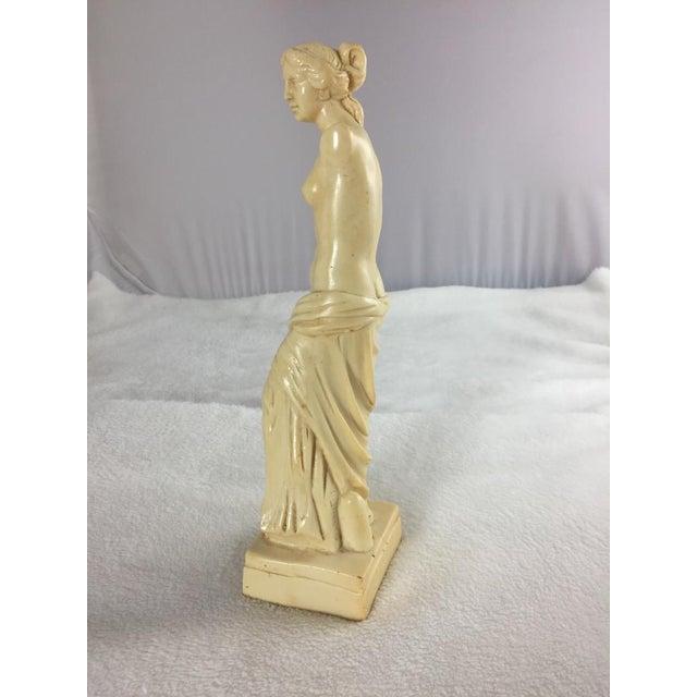 Figurative 1950's Venus De Milo Alabaster Goddess of Love, Signed For Sale - Image 3 of 7