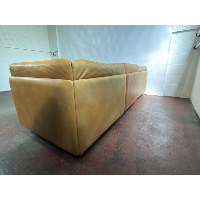 Vatne Mobler Vintage Leather Sectional Sofa For Sale In Boston - Image 6 of 11