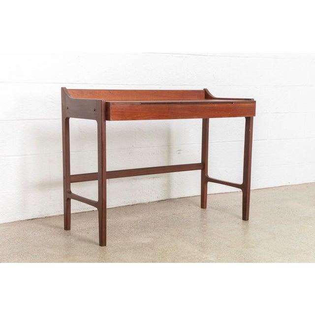 Danish Modern Teak Vanity Table For Sale In Detroit - Image 6 of 12