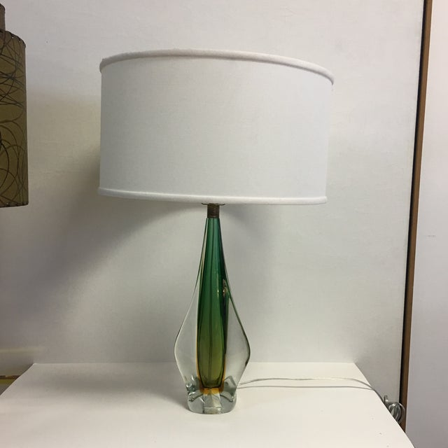 Murano Sommerso Mid Century Art Glass Lamph For Sale - Image 13 of 13