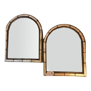 A Pair of Large Moroccan White Camel Bone Mirror For Sale