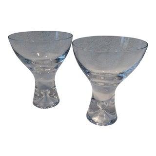Iittala Tapio Hand Blown Crystal Champagne Glasses Pair For Sale