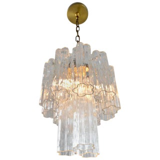 Murano Glass Tronchi Chandelier, Italy, 1960s, Petite Size For Sale