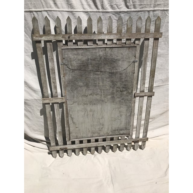 This Is A Unique Vintage Picket Fence Style Framed Mirror c 1950/60's. This Mirror Is From A South Hampton Estate And Was...