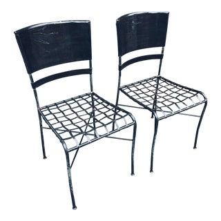 Mid Century Modern Salterini Wrought Iron Chair For Sale