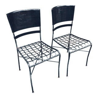 Salterini by Maurizio Tempestini Wrought Iron Chair Pair For Sale