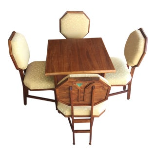 1980s Frank Lloyd Wright Design Dining Set - 5 Pieces For Sale