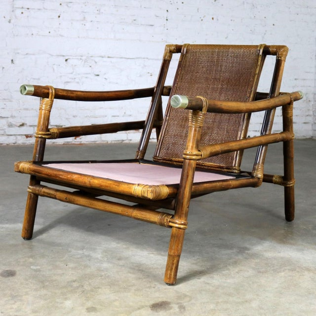 Ficks Reed John Wisner for Ficks Reed Rattan Lounge Chair For Sale - Image 4 of 13