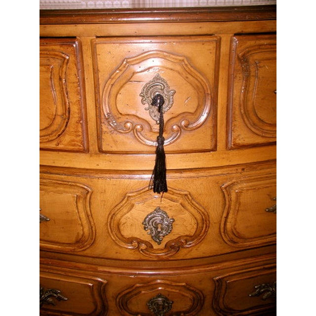 French 20th C. Five Drawer Fruitwood Chest - Image 3 of 9