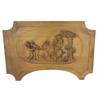 Carved Wood Panel For Sale