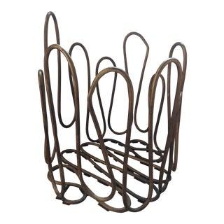 Martha Sturdy Wire Basket For Sale