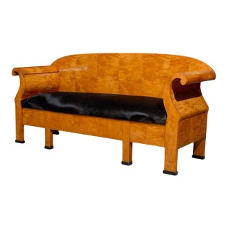 Antique Swedish Karl Johan Biedermeier Sofa or Settee For Sale