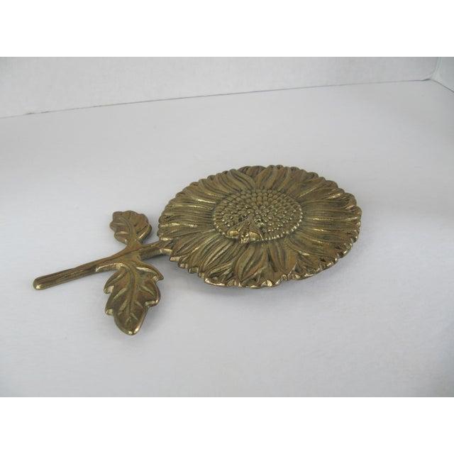 Vintage Brass Sunflower Decorative Object - Image 4 of 5