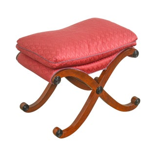 Hickory Chair Regency Stye X Base Stool