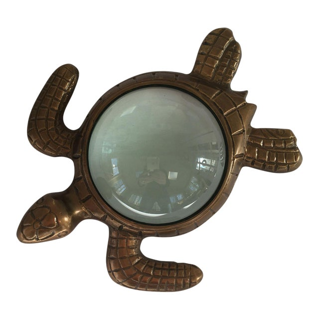 Turtle Magnifying Glass Paperweight For Sale