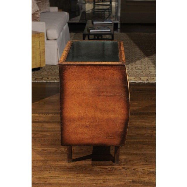 Black Chic Restored Art Deco Commode in Bamboo and Black Lacquer, Circa 1940 For Sale - Image 8 of 12