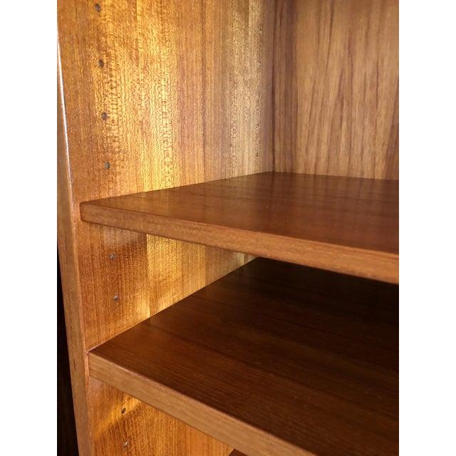 Brown Omann Jun MCM Teak 2 Piece Display Unit/Credenza For Sale - Image 8 of 9