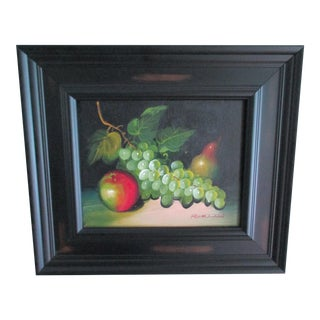 Fruit Still Life -Oil on Canvas For Sale