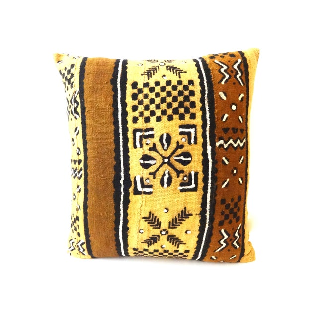 African Mud Cloth Pillow - Image 3 of 8