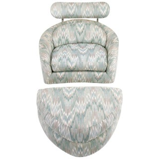 Adrian Pearsall Swivelling Club Chair With Ottoman and Integral Headrest Preview
