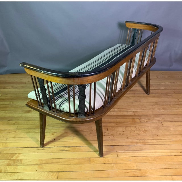 Lacquer Swedish 1950s Småland Long Bench in Solid Pine For Sale - Image 7 of 11