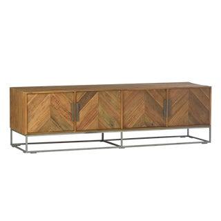 Chevron Wood Media Cabinet