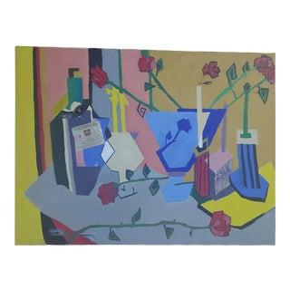 Original Abstract Still Life Mixed Media Painting For Sale