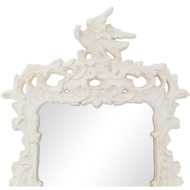 Asian Chinese Chippendale Eagle Crest Mirror For Sale - Image 3 of 11