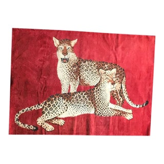 Vintage Cheetah Print Rug - 4′ × 6′ For Sale