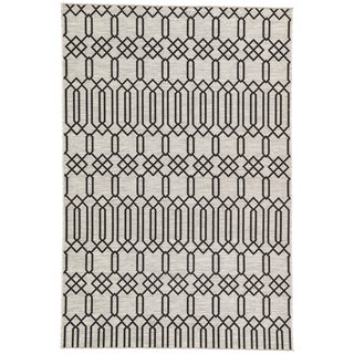 Nikki Chu by Jaipur Living Calcutta Indoor/ Outdoor Geometric Area Rug - 5′3″ × 7′6″ For Sale