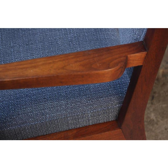 Set of Six Walnut Dining Chairs by Jens Risom - Image 5 of 11